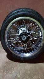 Vendo ou troco rodas aero rifil 2.15 17 com pneus da cb novos