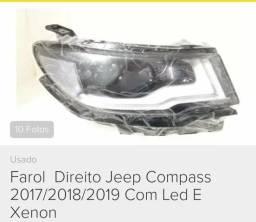 Farol jeep compass lado direito novo - 2019