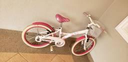 Vendo bike aro 20 - My bike branca com cestinha