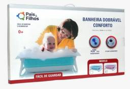 Banheira De Bebê Portátil Dobrável Flexível Silicone