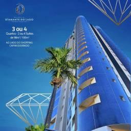 Apartamento 3 Suítes, 100 m² na 107 Sul - em frente ao Shopping - Diamante do Lago