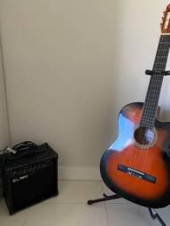 Violão EletroAcustico + Amplificador