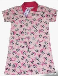 kit 75 lindos vestidinho gola pólo infantil atacado