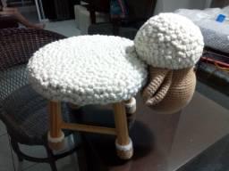 Cadeirinha infantil de ovelha