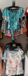 Blusinhas de tecidos, várias estampas