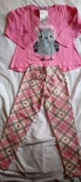 Pijama longo corujinha tamanho 2