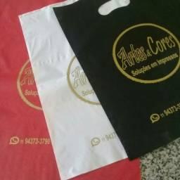 100 sacolas personalizadas 20x30 60,00