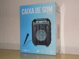 Caixa de som Inova Bluetooth Fm USB som forte 40cm sensacional entregamos em Poa-rs