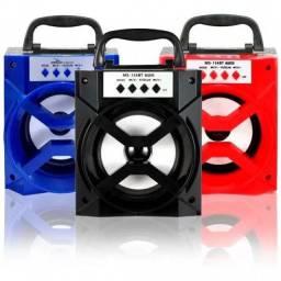 Caixa de som Speaker quadrada com luz de Led