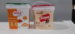 Baldes de Margarinas Usados 15 kg com tampa
