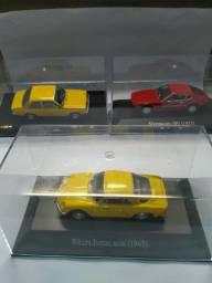 Lote de 4 miniaturas 1/43, chevete, stock car, wilys e volks sp