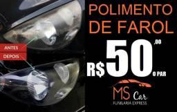 Polimento de Farol - R$50 o par