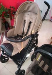Carrinho de bebê peg perego + bebê conforto + base para carro