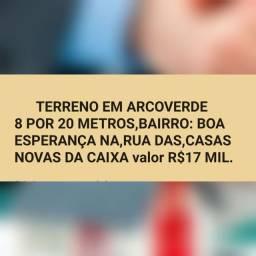 terreno / R$17 Mil, Boa Esperança Em Arcoverde