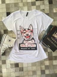 T-shirt Feminina P ao M várias estampas