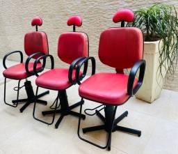 Cadeiras para salão hidráulicas (Assento em couro) NGC