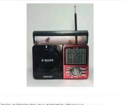 Rádio Retrô Portátil Mp3 Usb Cartão Sd Pen Drive Am Fm Sw
