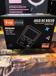 Mini game portátil com 400 jogos