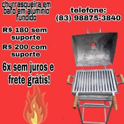 churrasqueiras em aluminio fundido entrega gratis