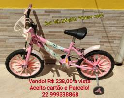 Vendo bicicleta infantil ARO 16 PRINCESAS R$ 238,00