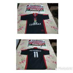 Camisa Flamengo Umbro 1999 <br>Grátis Pôster Campeão Carioca 1999<br>