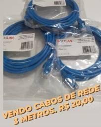 vendo cabos de rede - 3 metros - r$ 20,00 ***precinho***