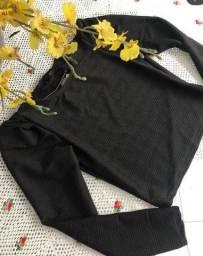 Blusa manga bufante detalhes em brilho