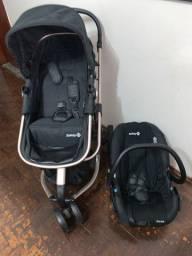 Carrinho com Bebê conforto mobi travel system Preto com Rose-Safety 1st