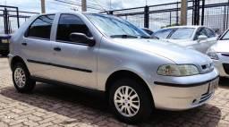 Fiat palio fire flex 2005/2006 prata 04 portas completo financiamos
