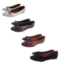 kit 4 pares de sapatilha feminina confort casual yone