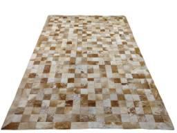 Tapete de couro legitimo 2,50x3,50 peças de 10 cm