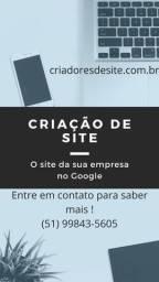 Criamos o site da sua empresa