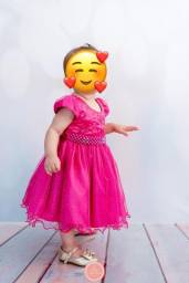 Vestido Rosa Tamanho 1
