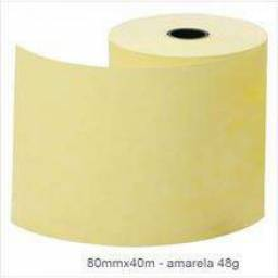 (WhatsApp) bobina térmica 80mmx40m amarela kph 48g