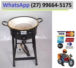 Fritadeira Fritador Fogão Pasteleiro Com Tacho N14 Batata + Mangueira
