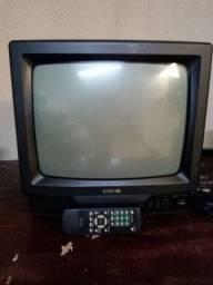 Tv 14 polegadas + suporte