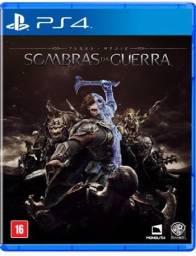 Jogo Sombras da Guerra Playstation 4 aceito trocas