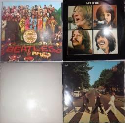 4 LPs Beatles- Peppers, Album Branco, Abbey e Let it Be