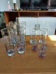Conjunto de copos vintage / antiguidade