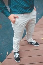 Calças sarja masculina da Polo Ralf Lauren e Calvin Klein Imperdível
