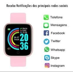 PROMOÇÃO 2 Relógios Smartwatch Y68 D20 Prova d'água e Notificações Whatsapp