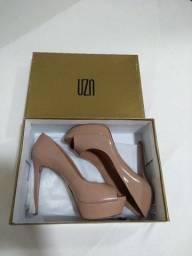 Meia Pata Verniz Nude UZA Shoes