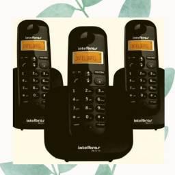 TELEFONE SEM FIO - BASE + 2 RAMAIS COM SECRETÁRIA ELETRÔNICA INTELBRAS TS 3110