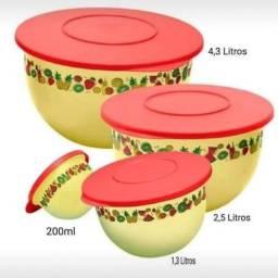 Título do anúncio: Kit 5 tigelas murano verão Tupperware