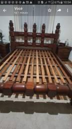 Cama casal madeira maciça Ipê