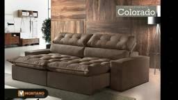 Sofá retratil reclinável com encosto de 5 posições ! Assentos com molas e pilow top