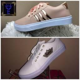 Sapatenis Adidas e Gucci