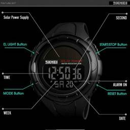 Relógio skmei solar a prova d'água digital novo