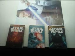 Livros Star Wars e poster