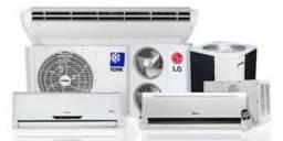 Instalação e higienização de ar condicionado split